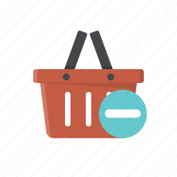 basket, buy, delete from basket, remove from basket, shopping, shopping basket icon