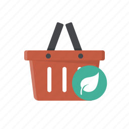 basket, eco product, eco products, eco shop, ecological, green product, shopping icon