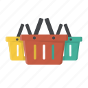 baskets, buy, shop, shopping, shopping baskets, wholesale icon