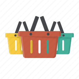 baskets, buy, shop, shopping, shopping baskets, wholesale icon