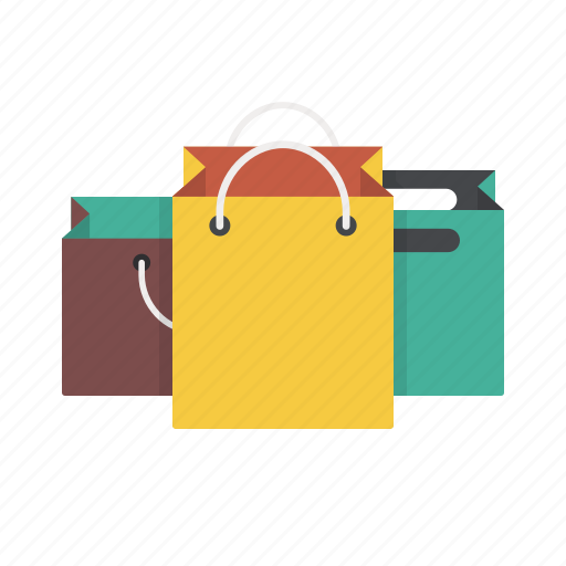 bags, gift bags, goods, paper bags, shopping icon