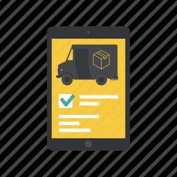 deliver, delivery, delivery app, delivery application, delivery form, form, ipad app icon