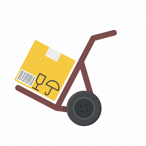 box, cargo, cargo cart, cart, delivery, package, transport icon