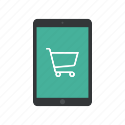 cart, ecommerce, ipad, responsive, shop, shopping, tablet icon