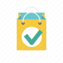 approve, bag, buy, paper bag, product, shopping, shopping bag icon