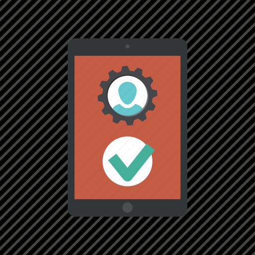 app user, application, configure profile, create profile, profile settings, register, user profile icon