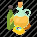 butter, cartoon, food, healthy, isometric, object, oil