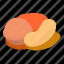 almond, cashew, isometric, nut, nuts, object, seed