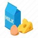 butter, cheese, dairy, isometric, milk, object, product