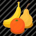 banana, food, fresh, fruit, isometric, nutrition, object