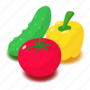 chili, food, health, healthy, isometric, object, vegetable