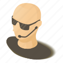 face, guard, isometric, muscle, nightclub, object, security