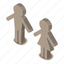 bathroom, female, gender, isometric, object, toilet, wc