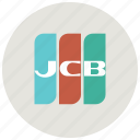 bank, buy, finance, jcb, payment, payment method, shop icon