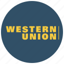 buy, payment, payment method, shop, western, western union, westernunion icon