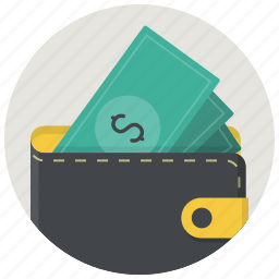 cash, dollar, money, payment, shop, shopping, wallet icon