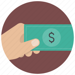 dollar, finance, hand, money, payment, shop, shopping icon