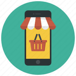 basket, cart, mobile, mobile shopping, shop, shopping, shopping basket icon