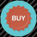 badge, buy, buy badge, online shopping, shop, shopping, sticker icon