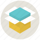 box, delivery, open box, package, product delivery, shippment, shop icon