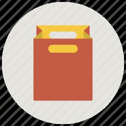 bag, paper bag, paper package, present bag, shop, shopping, shopping bag icon