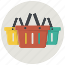 baskets, buy, buyers, carts, shoppers, shopping, shopping baskets icon
