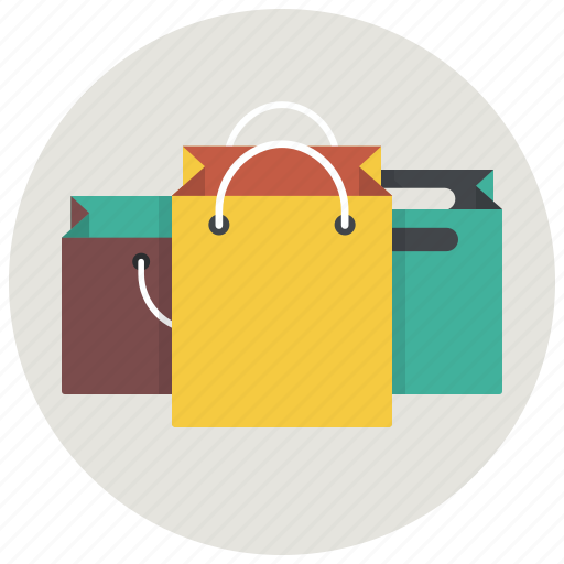 bags, gifts, goods, presents, products, purchases, shopping icon