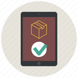 application, approve, confirm, delivery app, ipad, order, shopping app icon