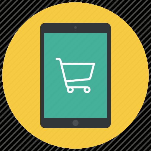 buy, cart, ecommerce, ipad, shop, shopping, shopping cart icon