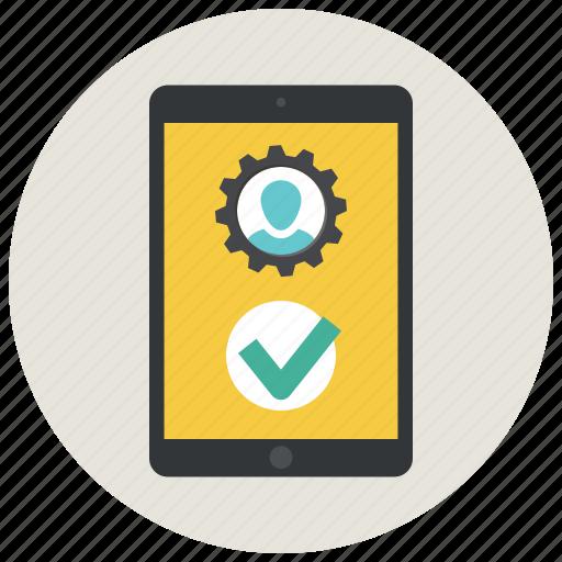 account, app, create account, create profile, ipad, profile, settings icon