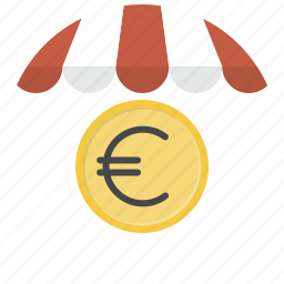 cash, currency, euro, money, shop, shopping, store icon
