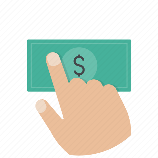 buy, cash, dollar, hand, money, payment, shop icon