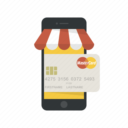 credit card, ecommerce, master card, online shopping, phone, shop, shopping icon