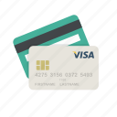 cards, credit cards, finance, payment, payment method, visa, visa card icon