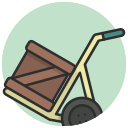 box, cargo, cart, deliver, package, warehouse icon