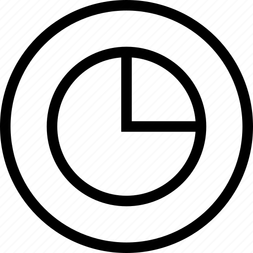 chart, growth, percentage, pie, progress icon
