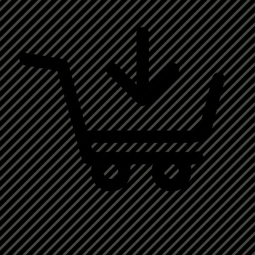 basket, cart, checkout, commerce, download, money, order icon