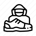 human, shoes, shoplifter, shoplifting icon
