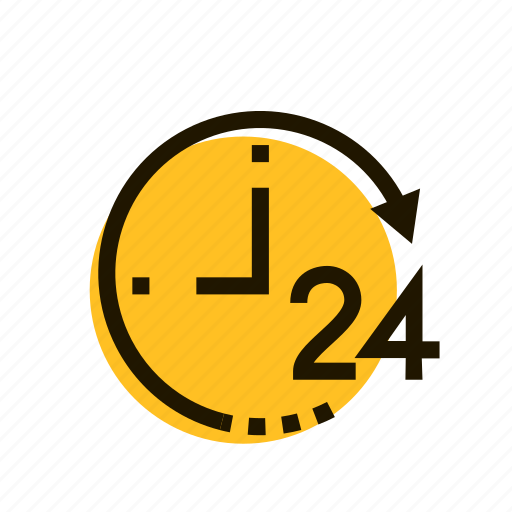 all day, clock, contact, e-commerce, srvice, time, work icon