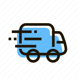 delivery, e-commerce, fast, logistics, shopping, transport, truck icon