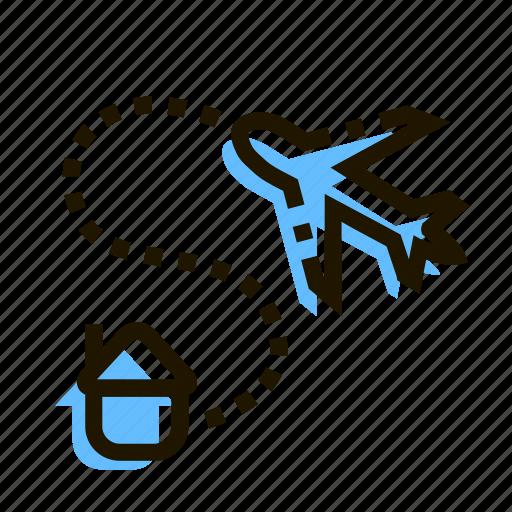delivery, e-commerce, fast, home, logistics, plane, transport icon