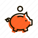 box, cash, currency, finance, money, pig, shopping icon