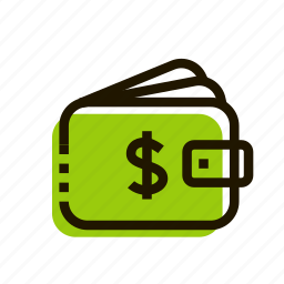 cash, commerce, money, purse, shopping, wallet icon
