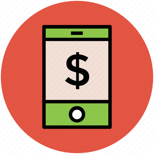 android device, dollar sign, ipad, mobile, online business, phone, tablet icon