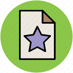 extension, favorite, file, star, star on file icon