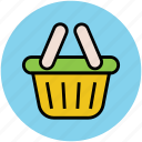 basket, hamper, online shopping, shop, shopping, shopping basket, supermarket icon