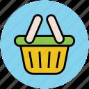 basket, hamper, online shopping, shop, shopping, shopping basket, supermarket icon