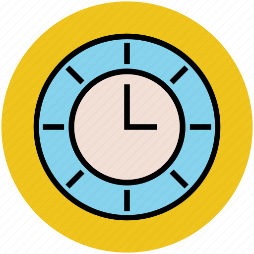 clock, clockwise, hour, time, timepiece, wall clock icon