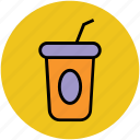 beverage, coffee cup, drink, juice cup, smoothie cup icon