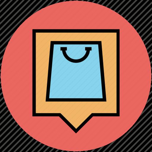 bag, online store, purse, shopper bag, shopping bag, shopping purse, tote bag icon